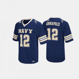 #12 Hail Mary II Navy Jersey Navy For Men's 485306-794