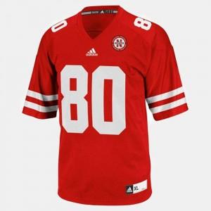 #80 Kenny Bell Nebraska Jersey Men's Red College Football 396645-212