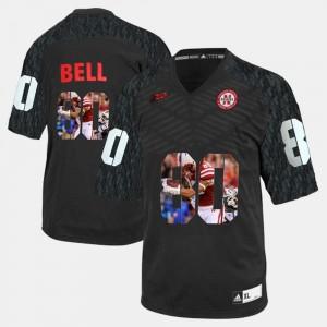#80 Black Kenny Bell Nebraska Jersey For Men's Player Pictorial 728663-246