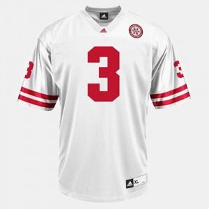 College Football Men #3 White Taylor Martinez Nebraska Jersey 984841-694