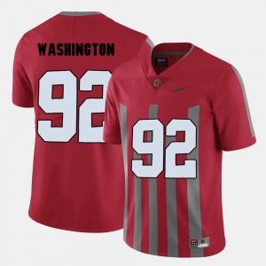 Adolphus Washington OSU Jersey #92 College Football Red Men's 117480-934