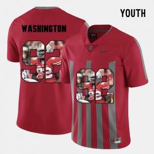 #92 Adolphus Washington OSU Jersey Youth Red Pictorial Fashion 615048-466