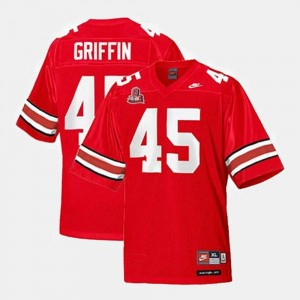 Youth(Kids) #45 Archie Griffin OSU Jersey Red College Football 651658-958