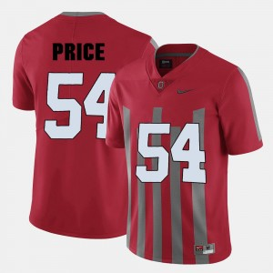 #54 College Football For Men Billy Price OSU Jersey Red 394393-177