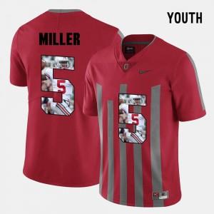 Kids #5 Pictorial Fashion Red Braxton Miller OSU Jersey 141813-527