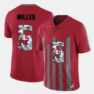Red Braxton Miller OSU Jersey Men's Pictorial Fashion #5 575902-262