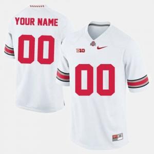 #00 OSU Customized Jersey Men's College Football White 261890-126