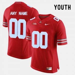 College Limited Football #00 Youth(Kids) OSU Customized Jersey Red 758532-222