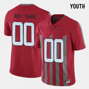 Red #00 OSU Customized Jersey Youth(Kids) Throwback 209384-723