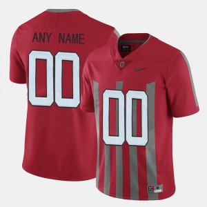 For Men's Throwback Red OSU Customized Jersey #00 192480-652