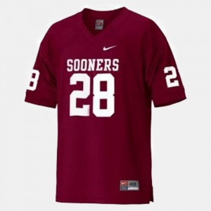 College Football Men's #28 Red Adrian Peterson OU Jersey 172443-318