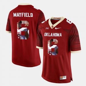 Player Pictorial Crimson Baker Mayfield OU Jersey #6 Men's 397926-271