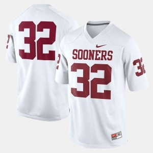 White Youth College Football #32 OU Jersey 723507-471