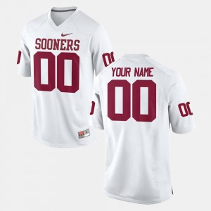 #00 College Football White OU Custom Jerseys For Men's 798606-380