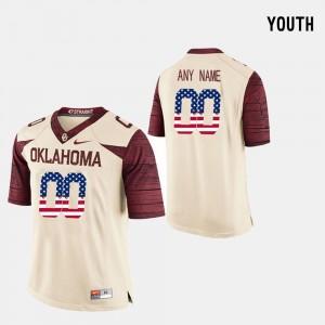 #00 OU Custom Jerseys US Flag Fashion Youth Crimson 135385-415