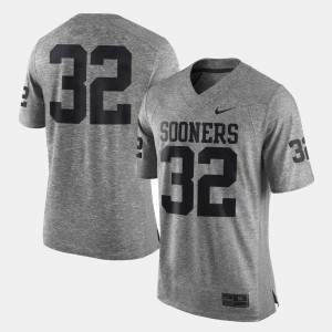 Gridiron Limited #32 For Men OU Jersey Gridiron Gray Limited Gray 744450-640