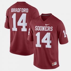 Men's Sam Bradford OU Jersey Alumni Football Game #14 Crimson 348304-519