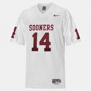 #14 For Kids College Football White Sam Bradford OU Jersey 399713-713