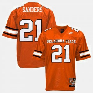 #21 Barry Sanders Oklahoma State Jersey For Kids College Football Orange 743817-983
