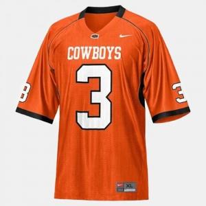 Orange #3 Kids College Football Brandon Weeden Oklahoma State Jersey 327162-807