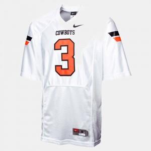 #3 College Football Brandon Weeden Oklahoma State Jersey White For Kids 738761-804
