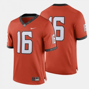 Orange College Football #16 Oklahoma State Jersey For Men's 577053-907