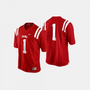 Ole Miss Jersey College Football Men #1 Cardinal 248870-775