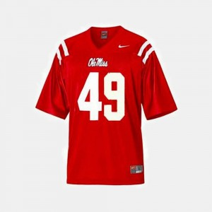Patrick Willis Ole Miss Jersey College Football Red #49 Mens 150673-807