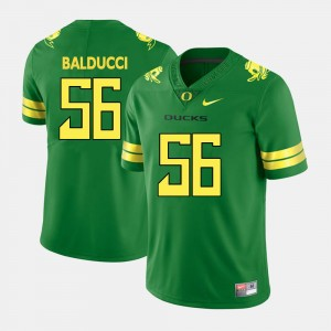 Men's Alex Balducci Oregon Jersey #56 College Football Green 258955-354