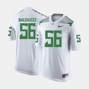 College Football Alex Balducci Oregon Jersey #56 White For Men 149885-437