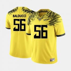 Yellow #56 Alex Balducci Oregon Jersey College Football Men's 736425-978
