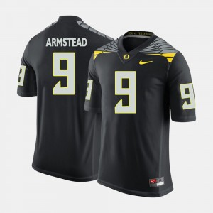 College Football Arik Armstead Oregon Jersey #9 Black For Men 558388-710