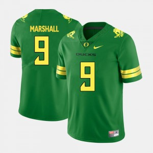 For Men's Byron Marshall Oregon Jersey Green College Football #9 855024-693