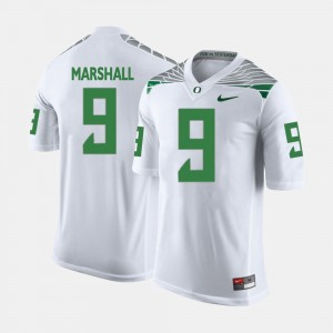 College Football Byron Marshall Oregon Jersey White #9 For Men's 174303-504
