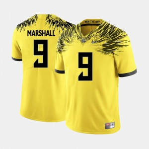 Byron Marshall Oregon Jersey For Men's College Football Yellow #9 770625-882