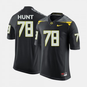 For Men's #78 Cameron Hunt Oregon Jersey College Football Black 585466-171