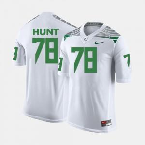 Cameron Hunt Oregon Jersey White Men's #78 College Football 699227-398