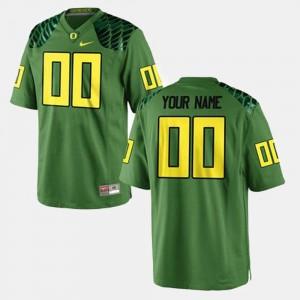 #00 College Football Men Oregon Custom Jersey Green 297882-774