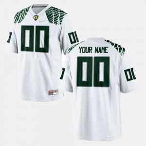 White #00 For Men's College Football Oregon Customized Jerseys 738479-673
