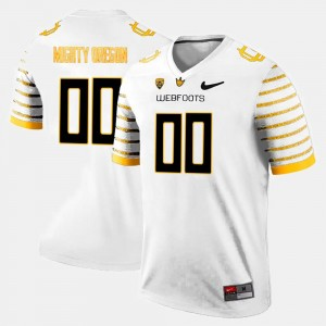 Oregon Custom Jersey For Men #00 White College Limited Football 522414-864