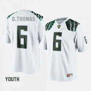 #6 De'Anthony Thomas Oregon Jersey Youth(Kids) White College Football 182715-694