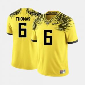 College Football #6 De'Anthony Thomas Oregon Jersey Yellow Mens 213154-418