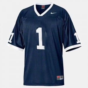 Youth(Kids) #1 Blue College Football Penn State Jersey 780992-404