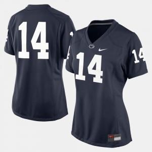 Navy Blue Penn State Jersey Women College Football #14 371225-428