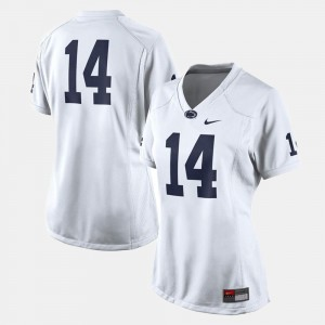 College Football Womens #14 Penn State Jersey White 400473-799