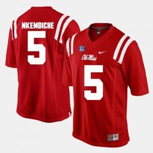 Men Robert Nkemdiche Ole Miss Jersey Alumni Football Game #5 Red 601690-113