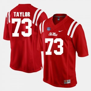 Red #73 Rod Taylor Ole Miss Jersey For Men's Alumni Football Game 699023-829