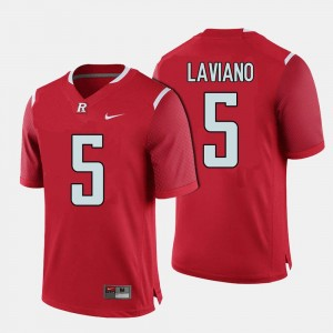 For Men Red College Football Chris Laviano Rutgers Jersey #5 705199-573