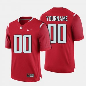 Red Men College Football #00 Rutgers Customized Jerseys 946618-455