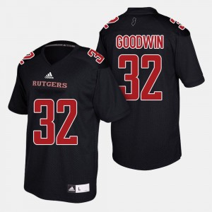 Black College Football #32 For Men Justin Goodwin Rutgers Jersey 928355-540